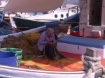 Cyclades/Folegandhros:mending the nets